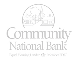 Community National Bank Logo Equal Housing Lender Member FDIC