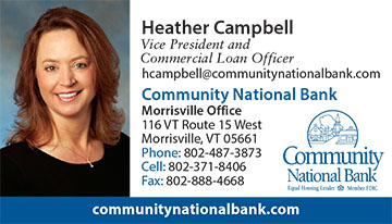 Heather Campbell, Vice President and Commercial Loan Officer, contact information