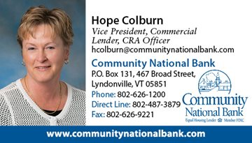 Hope Colburn, Vice President Commercial Lender Contact Information