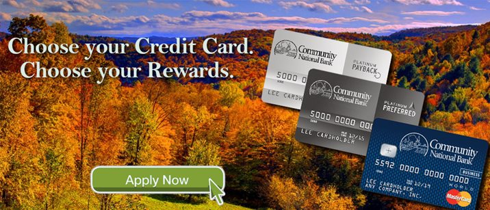 Visa Credit Card Graphic, Fall Foliage Image