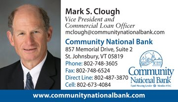 Mark S. Clough, Vice President and Commercial Loan Officer, contact information